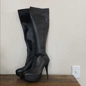 Stuart Weitzman platform knee high boots